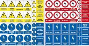 Barwy i kształty znaków bezpieczeństwa
