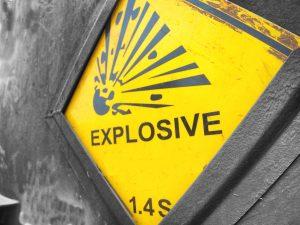 Materiały wybuchowe – piktogramy CLP