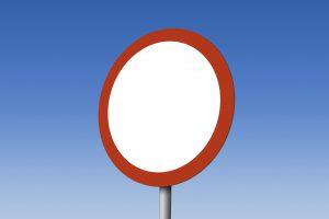 Zakaz ruchu w obu kierunkach – znak B-1