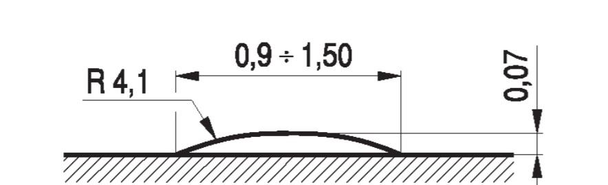 Wymiary liniowego progu zwalniającego listwowego U-16d
