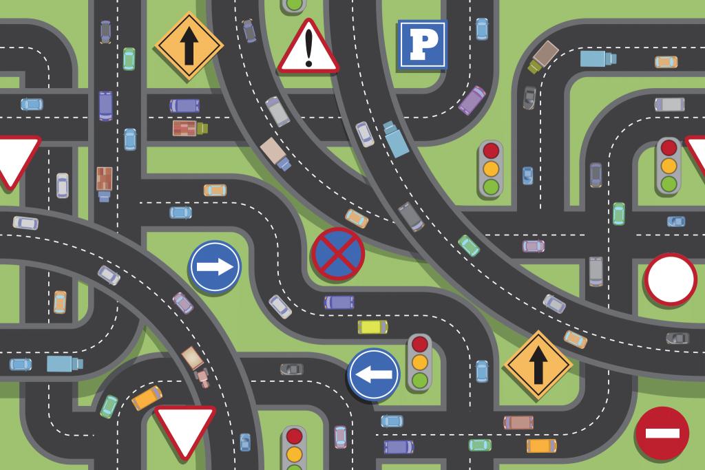 jak umieszcza sie znaki drogowe?