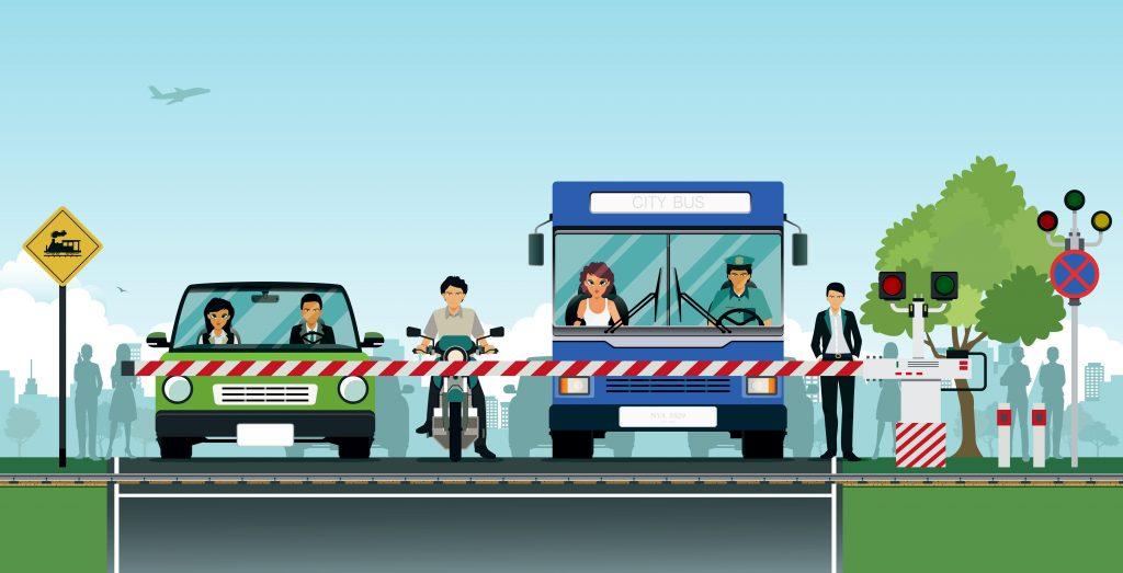 Oznakowanie przejazdow kolejowych - znaki ostrzegawcze A-9 i A-10