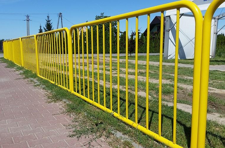 Bariera chodnikowa U-11a żółta, szczeblinkowa