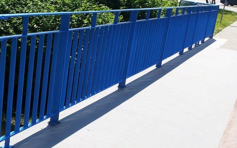 Poręcz na most, wiadukt, przejście dla pieszych i rowerzystów, malowanie RAL