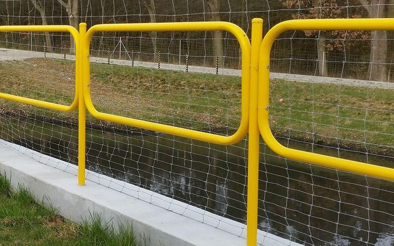 Bariera chodnikowa olsztynka U-12a żółta, olsztyńska