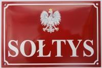 Tablica emaliowana na ścianę, na zamówienie - Sołtys