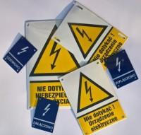 Tablica emaliowana na zamówienie - tabliczka orientacyjna elektryczna