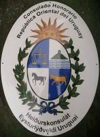 Tablica emaliowana wypukła na ścianę, na zamówienie - nazwa instytucji, konsulatu, urzędu