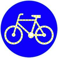 Znak aktywny podświetlony C-13 Droga dla rowerów, ścieżka rowerowa