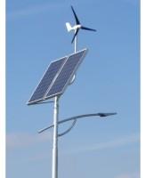Oświetlenie ulicy - panel fotowoltaiczny oraz turbina wiatrowa