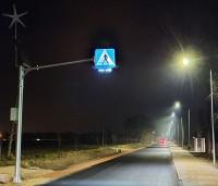 Aktywne przejście dla pieszych poświetlenie przejścia dla pieszych