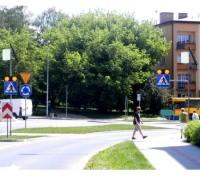 Aktywne przejście dla pieszych Sign Flash po obu stronach ulicy