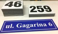Tabliczki adresowe pcv na zamówienie, własny numer, napis, adres, nazwa ulicy