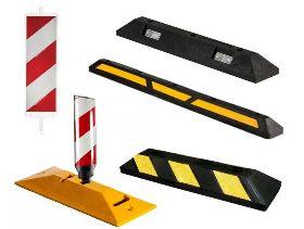 Separatory, odbojnice parkingowe drogowe, Ograniczniki skrajni, tablice kierujące