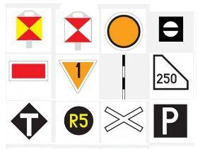 Znaki i wskaźniki kolejowe