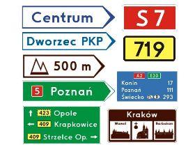 Znaki kierunku miejscowości