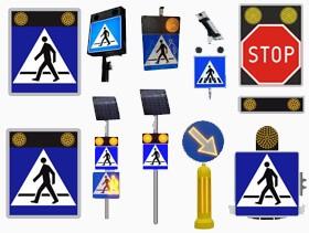 Znaki aktywne przejście dla pieszych