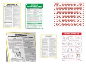 Instrukcje BHP (bezpieczeństwa i higieny pracy)