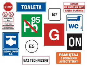 Oznakowanie stacji paliw, naklejki na dystrybutory i znaki