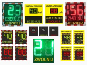 Radarowe wyświetlacze prędkości