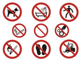 Znaki zakazu BHP