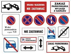 Znaki zakazu parkowania i postoju